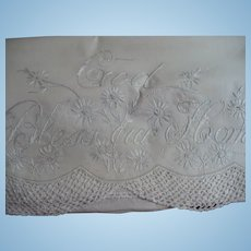 Embroidered God Bless Our  Home Pillowcase