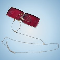 Folding Lorgnette with Case GF