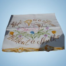 Mother Embroidered Towel