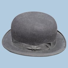 Mens Black Derby Hat