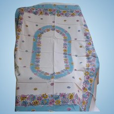 Cotton Print Tablecloth