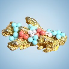 Castlecliff Coral Turquoise Pin