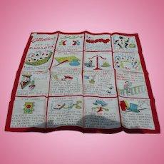 Canasta Rules Handkerchief