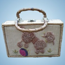 Wicker Poodle Purse