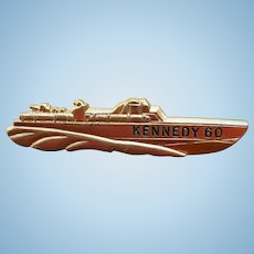 1960 Kennedy PT109 Campaign Pin