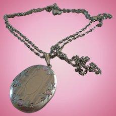 Silvertone Locket Chain
