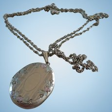 Silvertone Locket Chain
