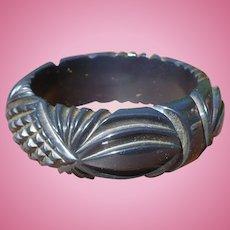 Dark Blue/Black Bakelite Bracelet