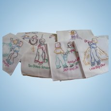 Embroidered Nursery Rhyme Towels 12