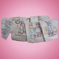 Embroidered Nursery Rhyme Towels 12