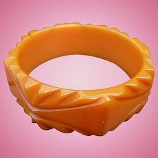 Hexagon Orange Bakelite Bracelet