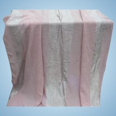 Silver Metallic Pink Tablecloth & Napkins