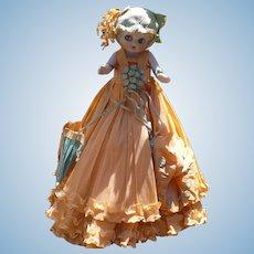 Bisque  Crepe Paper Doll Peach