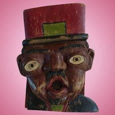 Black Wooden Carved Man