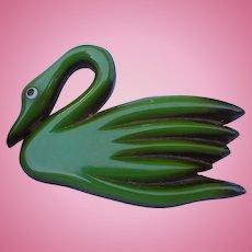 Bakelite Wood Bird Pin