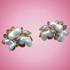 14K Gold Fresh Water Pearl Earrings