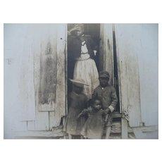 Photo Postcard Black Family