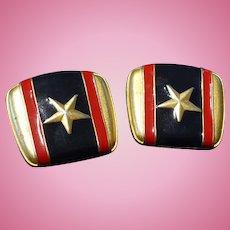 Patriotic Enamel Earrings