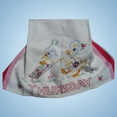 Embroidered Thursday Duck Towel