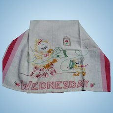 Wednesday Embroidered Duck Towel
