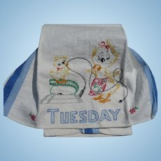 Tuesday Embroidered Duck Towel