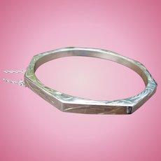 Sterling Hexagon Bracelet