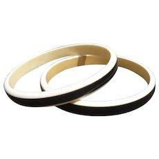 Black Cream Celluloid Bracelets
