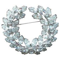 Rhinestone Wreath Pin