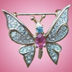 Panetta Rhinestone Butterfly Pin