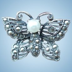 Marquisite Buutterfly Pin