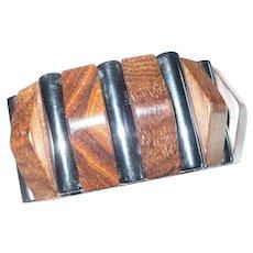 Bakelite Wood Stretch  Bracelet