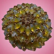 Yellow Rhinestone Pin