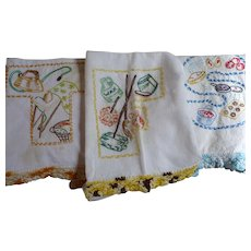 Days of Week 7 Embroidered Towels
