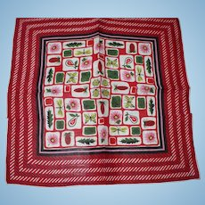 Flowers Fruit Insects Handkerchief