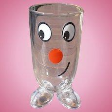 Tall Smiley Glass