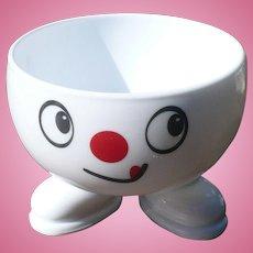 Milk Glass Smiley Bowl