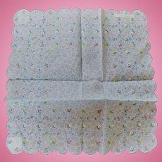 Swiss Embroidered Handkerchief