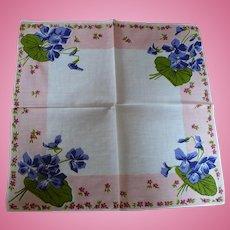 Violet Bunches Handkerchief
