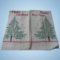 Embroidered Holiday Towels