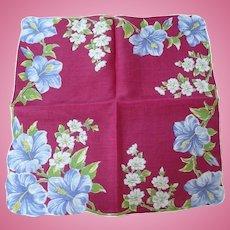 Wine Floral Handkerchief
