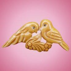 Bakelite Lovebird Pin