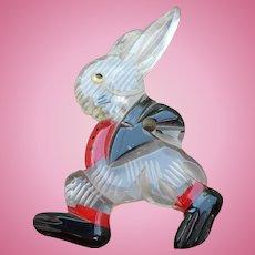 Lucite Rabbit Pin