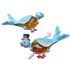 Coro Boy Girl Bird Pins