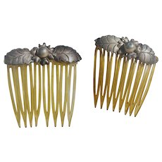 Sterling Celluloid Hair Combs