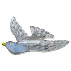 Flying Lucite Bird Pin