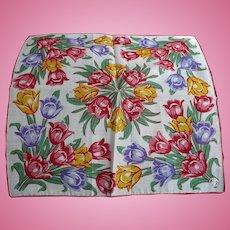 Colorful Tulip Handkerchief