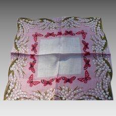 Butterflies Lily Valley Handkerchief