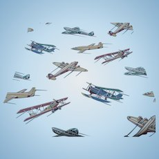 Vintage Airplane Wallpaper Roll
