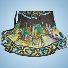 Hand Painted Mexican Sequin Skirt