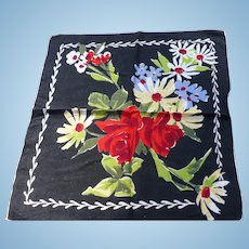 Bright Color Floral Handkerchief